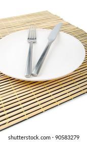 Food utensils served in plate
