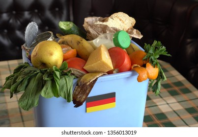 Food waste in Garbage Can. The problem of food waste in Germany. Trash, Recycling and Compost