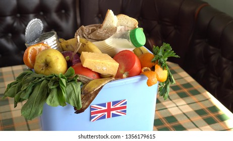 Food waste in Trash Can. The problem of food waste in United Kingdom. Food loss is food that is discarded or lost uneaten
