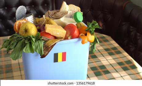 Food waste in Trash Can. The problem of food waste in Belgium. Food loss is food that is discarded or lost uneaten