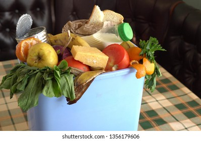 Food waste in Trash Can. Food Waste is an Urgent Global Problem. Food loss is food that is discarded or lost uneaten