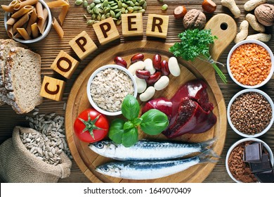 Foods highest in Copper (Cu). Natural sources of minerals