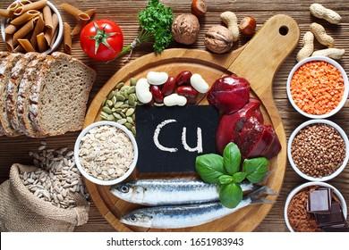 Alimentos más altos en cobre. Fuentes naturales de minerales