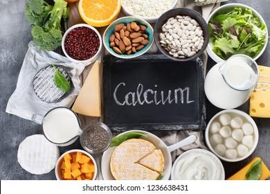 Foods rich in calcium. Healthy food.