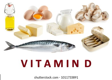 Foods rich in natural vitamin D as mackerel, eggs, cheese, milk, butter, mushrooms, canned sardines, cod-liver oil