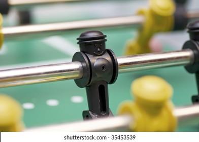 Foosball figures close-up