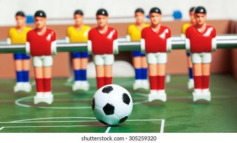 foosball. football table macro