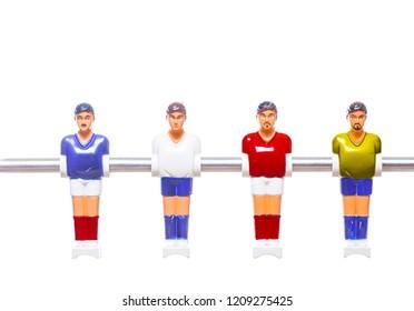 foosball player table soccer game ball