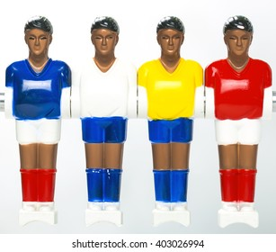 foosball table football players