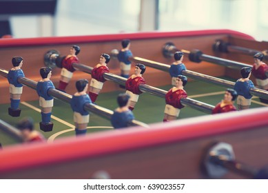 Foosball table side view