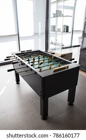 Foosball Table Soccer Game black and yellow players