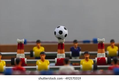foosball table soccer .sport team football players