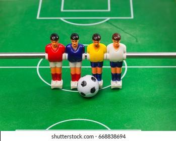 foosball table soccer, sport team football players