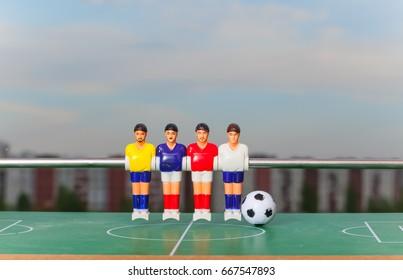 foosball table soccer sport teame football players