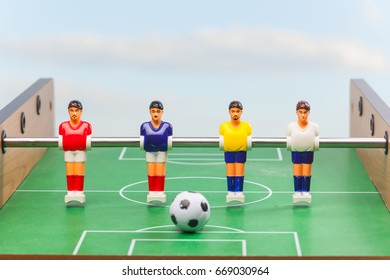 foosball table soccer . sport teame football players