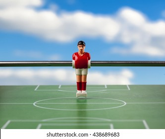 foosball table soccer .sport time football players