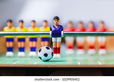foosball team blue player table soccer