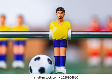 foosball team yellow player table soccer