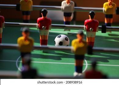 foosball.. toy soccer ball