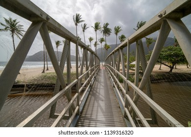 Foot bridge at Maracas Beach
