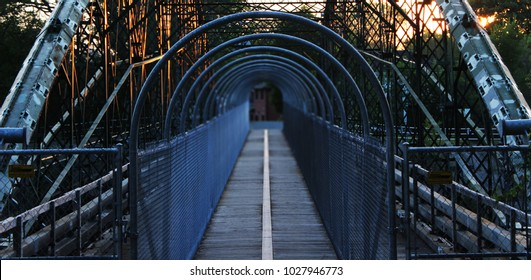 A foot bridge over the Thames river in London, Ontario