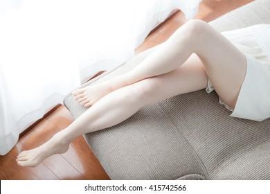Foot care , feet , legs , woman
