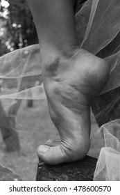 foot of dancer