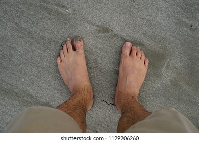 Foot Man on the beach