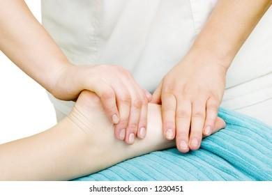 Foot massage detail image.