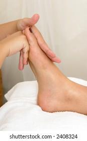 foot massage at the spa
