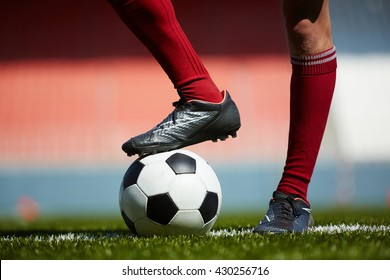 Foot on ball