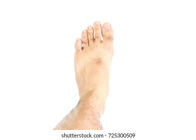 The Foot on White background