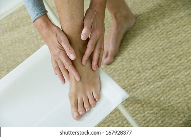 Foot Pain Elderly Person