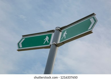 Foot path sign blank