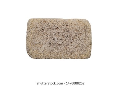 Foot pumice isolated on white background.