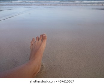 Foot with sand