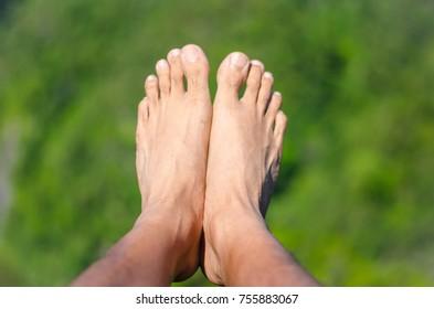 Foot toe in Mountain