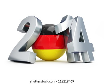 football 2014 Germany on a white background