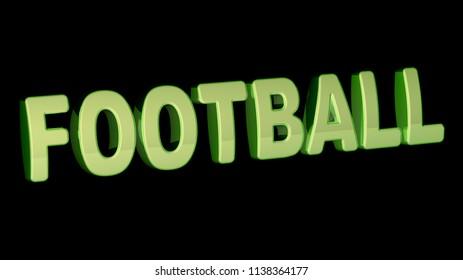 Football. 3D Illustration.