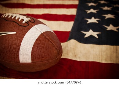 Football, America's favorite pastime in a rustic setting