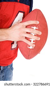 Football: Anonymous Man Gripping Football