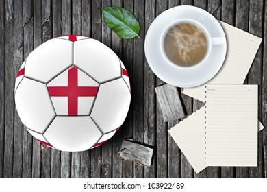 Football artwork european team on relax concept background.