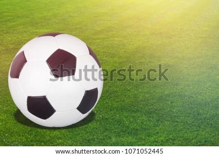 Football ball on a