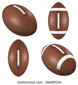Football balls isolated on white