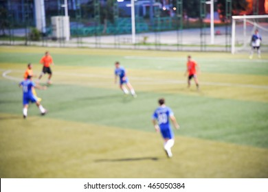 Football blur abstract background. Blurred training soccer.
