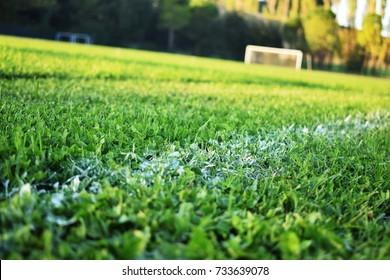 Football camp, close up, italy.