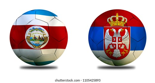 Football Cup competition between the national Costa Rica and national Serbia.