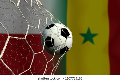 Football Cup competition between the national Poland and national Senegal.