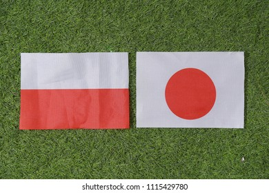 Football Cup competition between the national Japan and national Poland.
