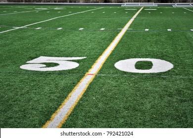 Football Field 50 Yard Line